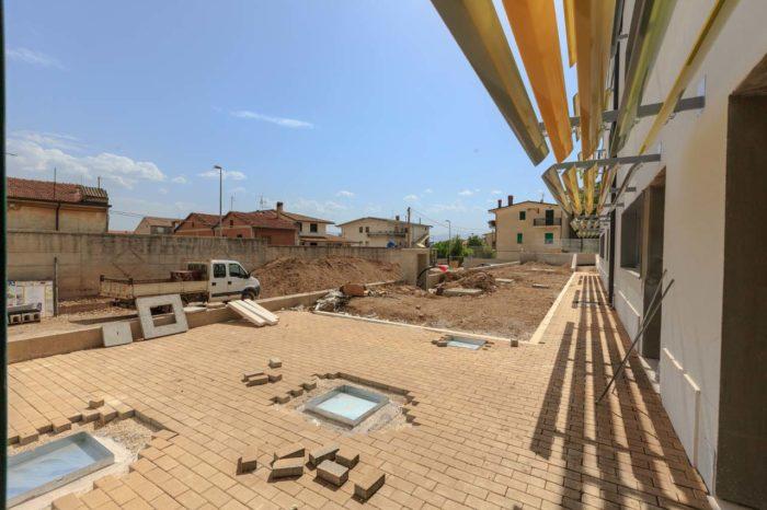 Pavimento esterno della nuova scuola Celano (AQ)