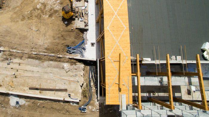 Vista aerea pavimentazione scuola di Celano (AQ)